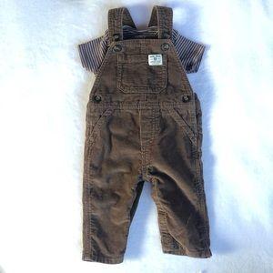 Carter's 6 months corduroy overalls